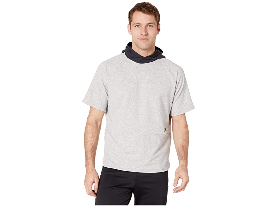 New Balance R.W.T. Short Sleeve Hoodie (Athletic Grey) Men