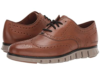 Cole Haan Zerogrand Wing Ox (Burnished British Tan Leather/Brazilian Sand) Men