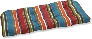 Pillow Perfect Outdoor Westport Wicker Loveseat Cushion, Teal