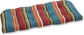 Pillow Perfect Outdoor Westport Wicker Loveseat Cushion, Teal