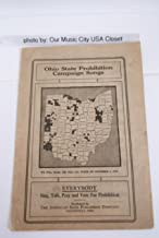 1914 Ohio State Prohibition Campaign Songs Vintage Political Campaign Songbook