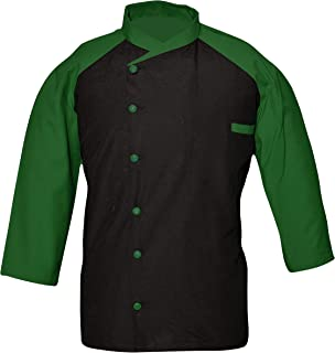Leorenzo Creation EQ-06 Men's Chef Coat Black The Front (Size- XXS-5XL, Back in 17 Colours)