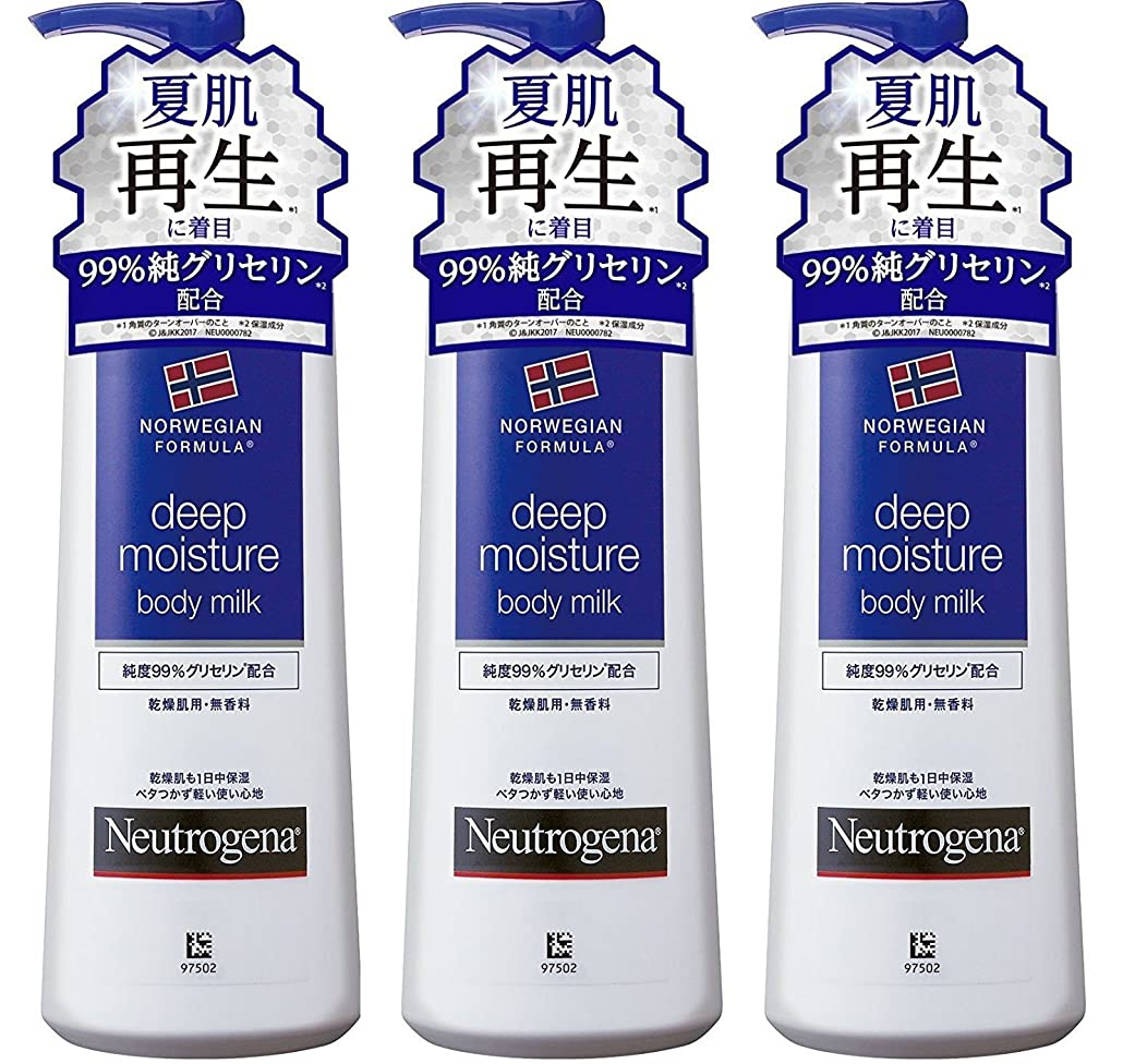 はずイブニング有名Neutrogena(ニュートロジーナ) ノルウェーフォーミュラ ディープモイスチャー ボディミルク250mL×3セット