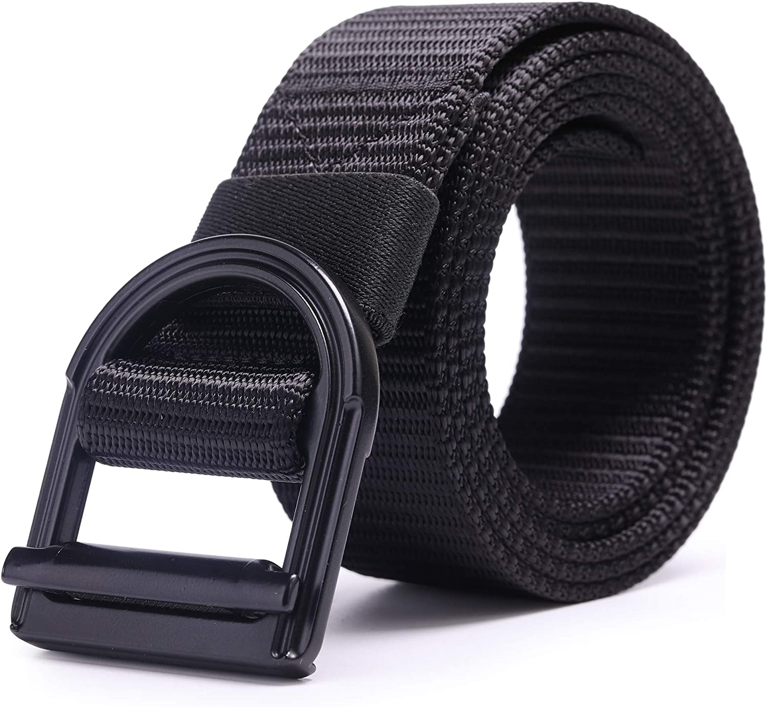 AXBXCX Mens Tactical Belt 1.5 Nylon Military Style Casual Army Outdoor Tactical Webbing Metal Buckle Belt