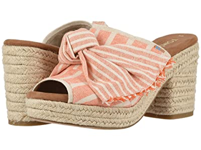 TOMS Junie (Orange Cabana Stripes/Knot) Women