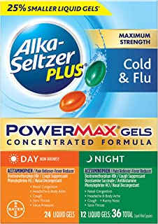 Alka-Seltzer Plus Alka-seltzer plus Maximum Strength Day & Night Cold & flu powermax gels 36 Count Liquid gels, 36 Count