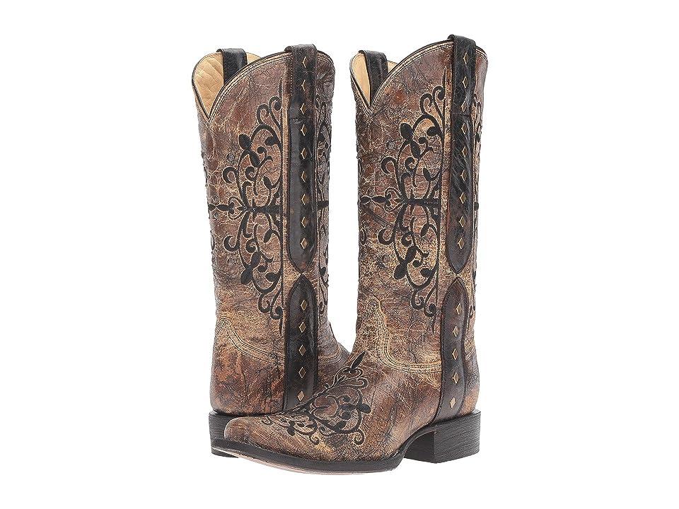 Corral Boots R1345 (Black/Bronze) Women