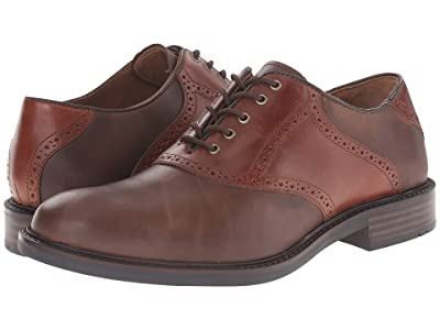 Johnston & Murphy Tabor Saddle Dress Oxford (Brown Oiled Nubuck/Mahogany) Men