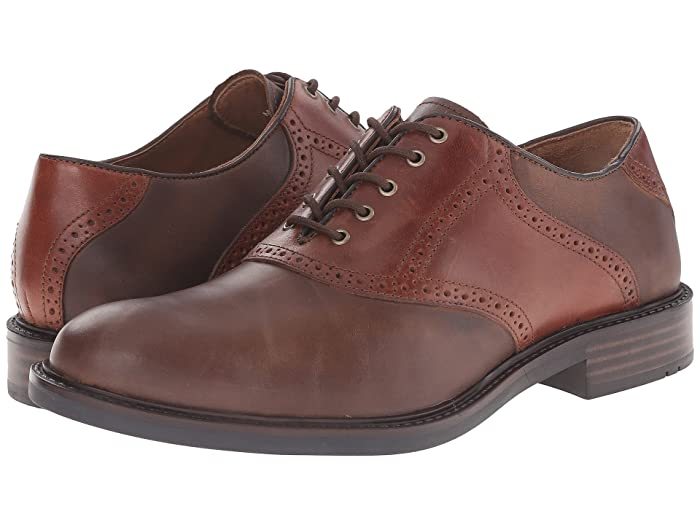 Men's 1950s Shoes Styles- Classics to Saddles to Rockabilly Johnston  Murphy Tabor Saddle Dress Oxford Brown Oiled NubuckMahogany Mens Plain Toe Shoes $99.90 AT vintagedancer.com