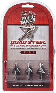 Trophy Taker T7201 Archery Broadheads, 125 Grain