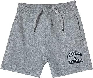 Junior Boys Franklin And Marshall Fleece Logo Jog Shorts In Navy Ribbed