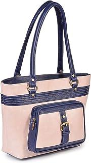 Fristo Pink and Blue Women Handbag