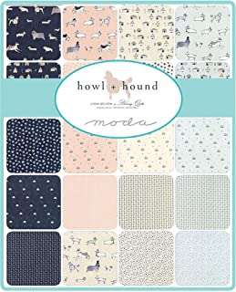 Howl Hound Mini Charm Pack by Lydia Nelson; 42-2.5 Inch Precut Fabric Quilt Squares