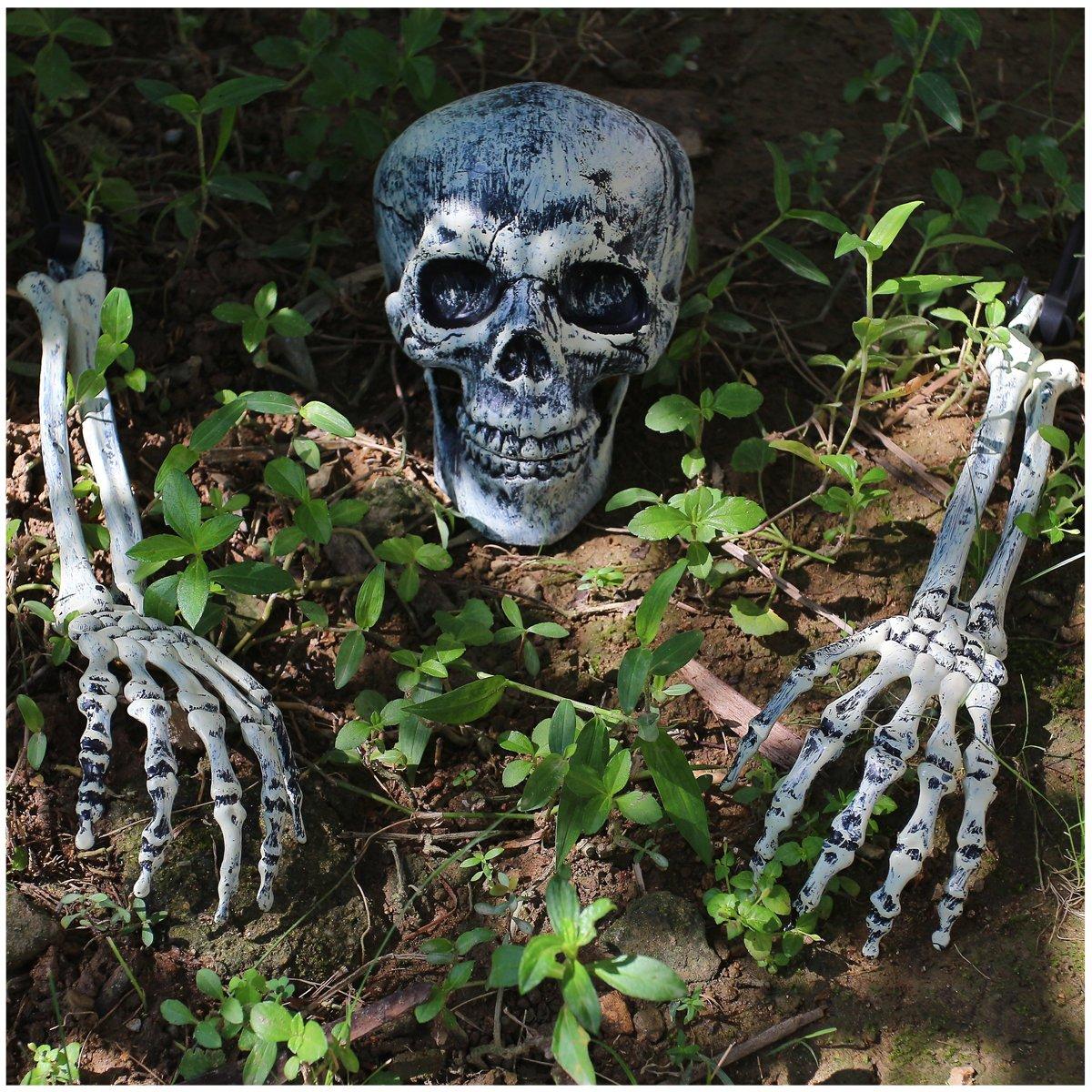 Amazon JOYIN Realistic Looking Skeleton Stakes Yard