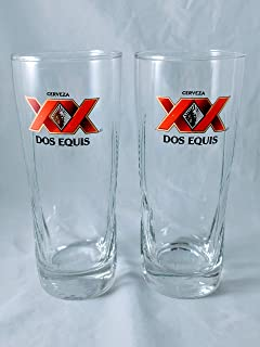 Dos Equis Millennium XX Signature Pint Glass | Set of 2 Glasses