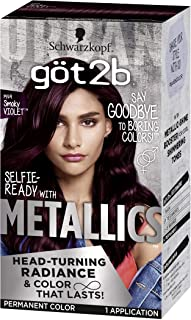 Got2b Metallic Permanent Hair Color, M49 Smoky Violet