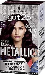 Got2b Metallic Permanent Hair Color, M49 smoky Violet,1 Count