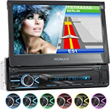 XOMAX XM-VN745 Radio de Coche con Mirrorlink I Navegador GPS I Bluetooth I Pantalla táctil 7
