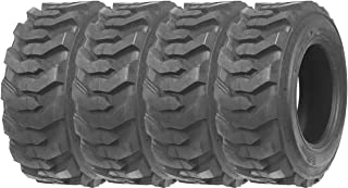 Set of 4 New ZEEMAX Heavy Duty 10-16.5/12PR G2 Skid Steer Tires for Bobcat w/ Rim Guard