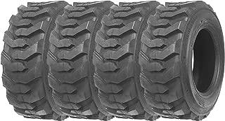 Set of 4 New ZEEMAX Heavy Duty 10-16.5/10PR G2 Skid Steer Tires for Bobcat w/Rim Guard