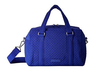 Vera Bradley Iconic 100 Handbag (Gage Blue) Satchel Handbags