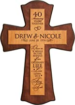 LifeSong Milestones Personalized 40th Anniversary Wedding wall Cross 40 year wedding gifts for him her couple Once in a While Love Gives Us a Fairy Tale for Wall or Desktop (12