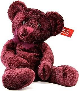 Russ Berrie Soft Stuffed Teddy Bear Burgundy Serenade