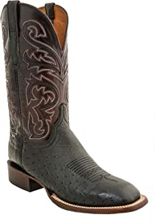 Men's Handmade Lance Smooth Ostrich Horseman Boot Square Toe - Cl1016.W8