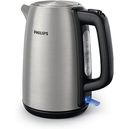 Philips HD9351/90 Bouilloire en métal, 2200W, 1,7L, couvercle articulé