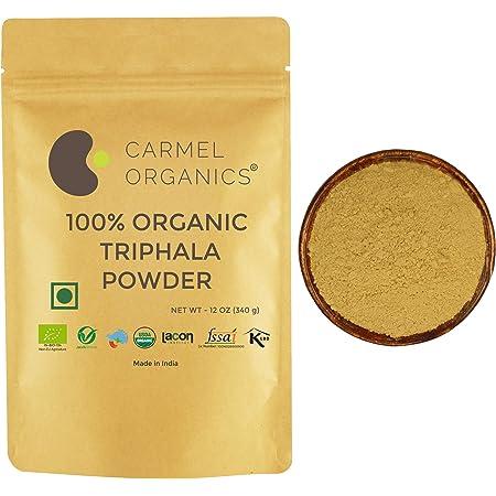 CARMEL ORGANICS Triphala Powder | 340 Grams | USDA Certified