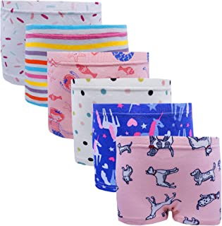 Girls Hipster Cotton Underwear Boyshort Panties 6 Pack