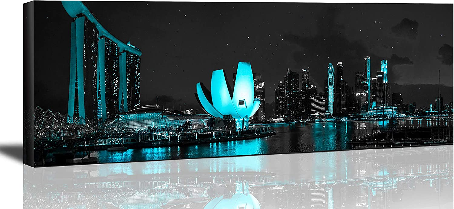 Black And White Singapore Cityscape Kansas City Mall on Pictures Canvas Paintings Discount is also underway