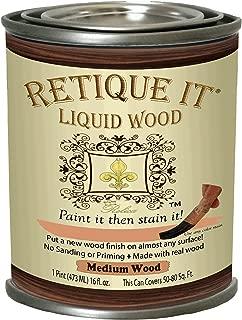 Retique It RETQ-LW16-MediumWood-RFP 16oz Pint 5. Med Wood 16 Ounces