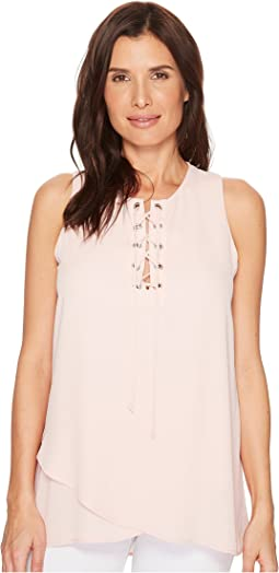 Asymmetric Lace-Up Tank