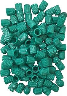Sherco-Auto (1000) Standard Green Plastic Tire Valve Stem Cap for Nitrogen Filled Tires