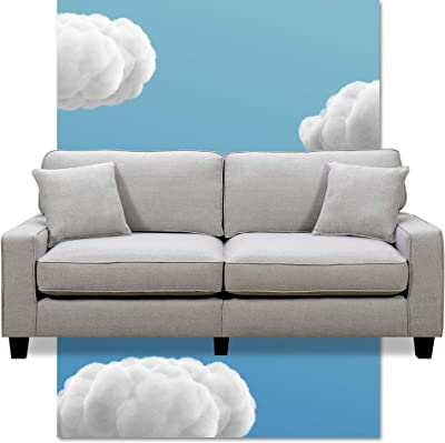 Amazon Com Serta Harmon Reversible Sectional Sofa Living Room Modern L Shaped 3 Seat Fabric Couch Square Arm Dark Blue Furniture Decor