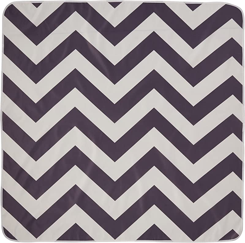 Multi Use Catch All Floor Mat 125cm X 125cm Chevron Grey