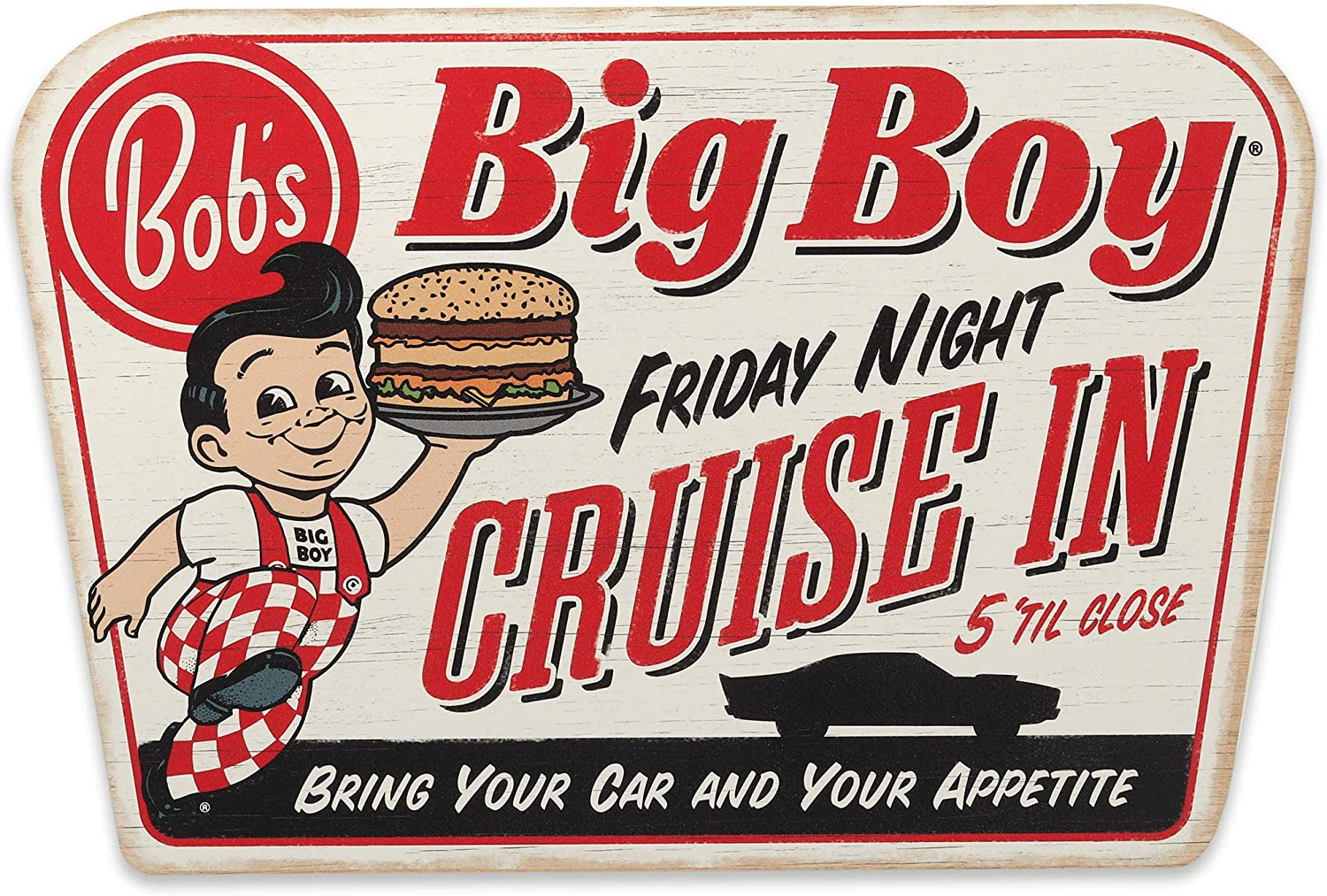Open Road Brands Bob's Big low-pricing Boy Night Friday Wall Cruise Gorgeous Wood in