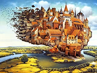 Agirlgle Jigsaw Puzzles 1000 Pieces for Adults for Kids, Jigsaw Puzzles -Fly Castle- 1000 Pieces Jigsaw Puzzles,Softclick ...