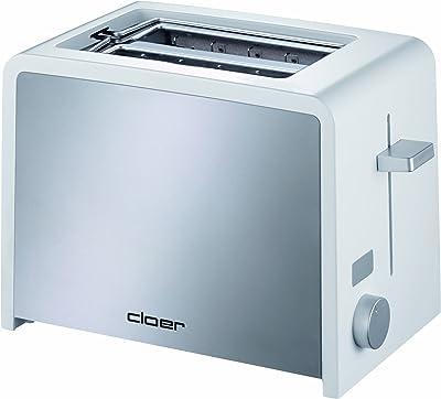 Cloer - tostador electrónica Cool-Touch, 2 rebanadas, Blanco, 2 rebanadas, 1