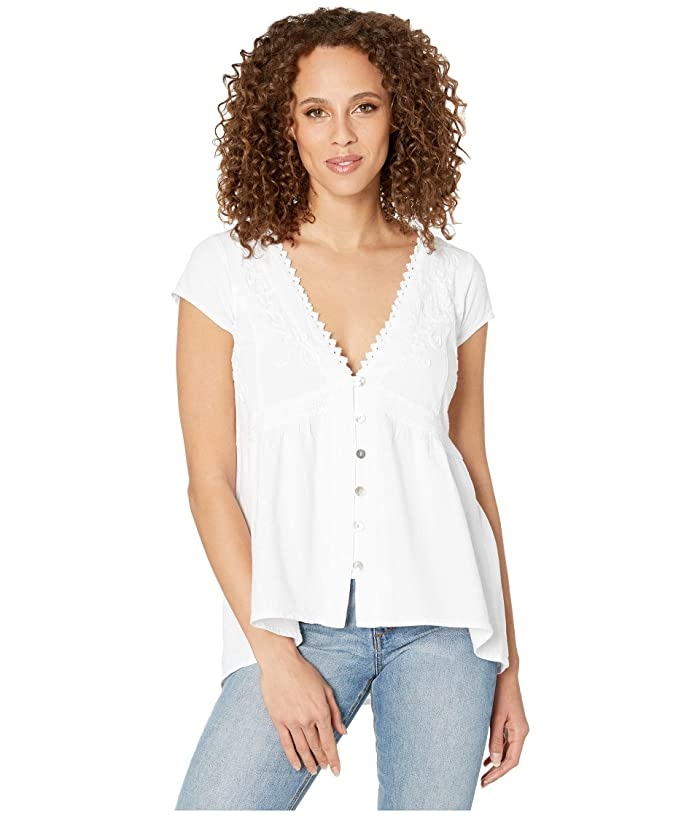 Scully High-Low Cap Sleeve Blouse