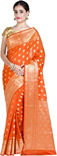 Women's Kataan Silk Blend Indian Ethnic Banarasi Saree with Unstitched Blousepiece (1250)