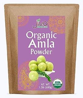 Jiva Amla Powder Organic 1.5LB Bulk Non-GMO (Indian Gooseberry, Amalaki)