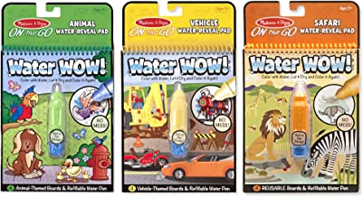 Melissa & Doug Water Wow Bundle! Vehicles, Animals & Safari