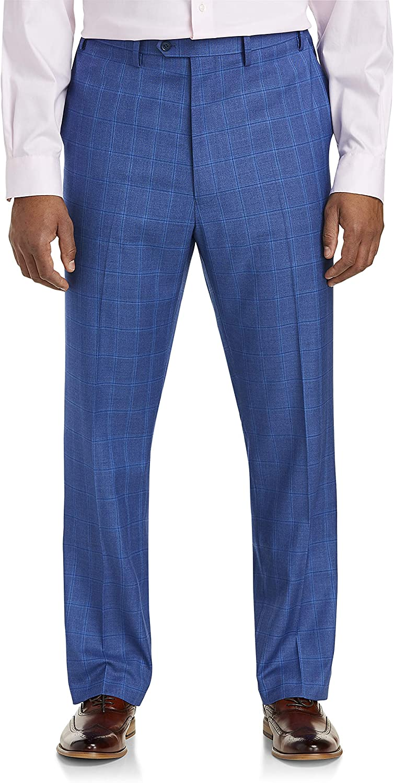 Tallia Windowpane Suit Pants, Blue