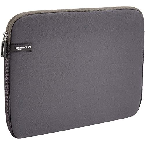 AmazonBasics 13.3-inch Laptop Sleeve  - Internal Dimensions - 12.1 X 0.7 X 9.3 Inches - Grey