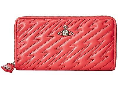 Vivienne Westwood Coventry Zip Round Wallet (Pink) Handbags