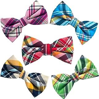 5 PACKS Elegant Adjustable Pre-tied Bow Ties or 1 Bowtie & Handkerchief Set Gift For Men Boys