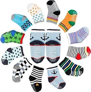Pack de 12 calcetines para bebé ABS antideslizantes para 12 – 36 meses bebé niñas y jóvenes