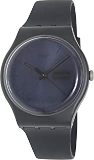 Swatch 1010 New Gent Quartz Silicone Strap, Black, 20 Casual Watch (Model: SUOB702)